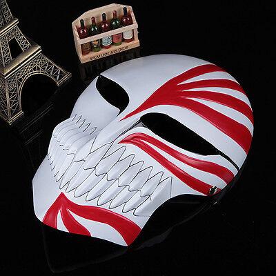 Red Bleach Ichigo Kurosaki Cosplay Full Hollow Halloween Resin Mask High Quality