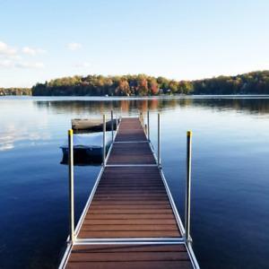 Chalet bord de l'eau à louer, ski, motoneige, patinoire sur lac