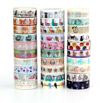 10m Cute Washi Tape Animal Set DIY Planner Masking Tapes School Office - Washi Tape Cheap
