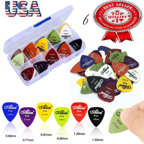 100 Guitar Picks Acoustic Electric Plectrums Celluloid 0.58 0.71 0.81 0.96 1.2