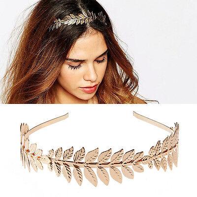 Vintage Goddess Women Olive Leaf Headband Headdress Hair Band Crown Wedding - Goddess Crown