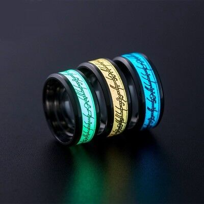Lord Of The Rings Glowing Ring Stainless Steel Men Women Frodo Hobbit - Frodo Lord Of The Rings Costume