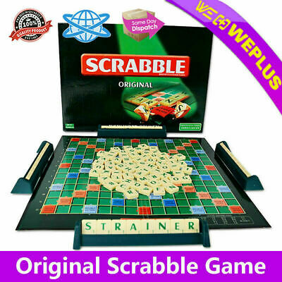 Original Scrabble BOARD Game Family Kids Edition Words Toys Puzzle Games