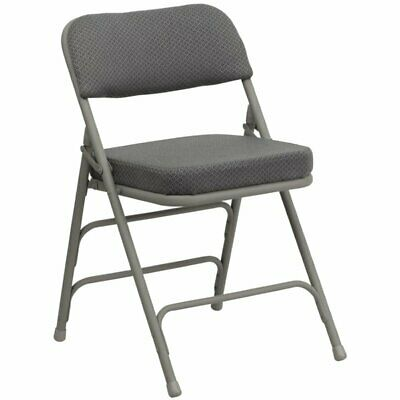 Flash Furniture Hercules Padded Metal Folding Chair In Gray