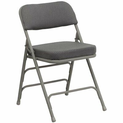 Padded Folding Chair Metal Soft Upholstered Seat Back Home Y