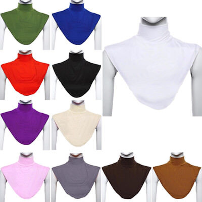 Damen Rollkragen Mock (Damen Schal Farbe Islamisches Hijab Muslimisch Mock Solid Stand Cover Rollkragen)