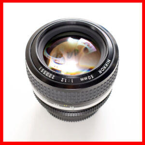 Nikon 50mm F1.2 Ais manual focus Lens 100% condition + box
