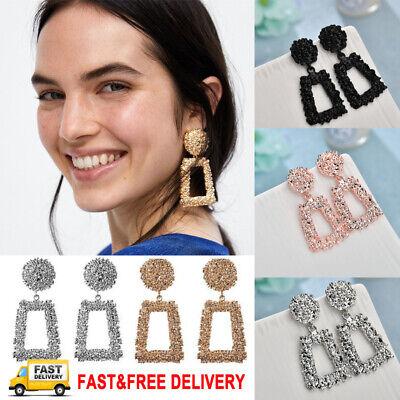 Jewellery - Trendy Punk Jewelry Metal Statement Dangle Drop Earrings Big Gold Geometric NEW