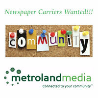 Newspaper carriers wanted - all ages!!! - all areas of Ottawa!!!