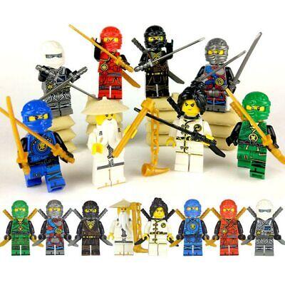 8Pcs NINJA Hero Building Block Movie Action Toy Bricks NinjagoINGly Figure Set