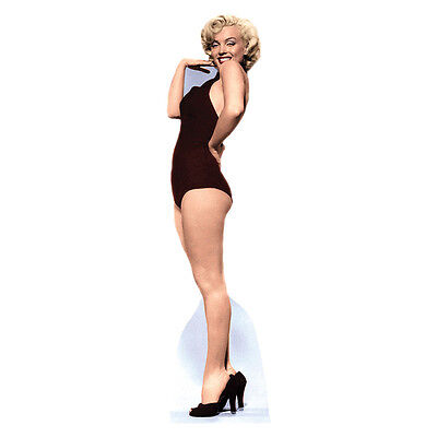 MARILYN MONROE IN BURGUNDY SWIMSUIT Lifesize CARDBOARD CUTOUT Standup Standee