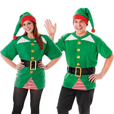 #Adult Unisex Jolly Elf Kit Christmas Santas Helper Fancy Dress Outfit ()