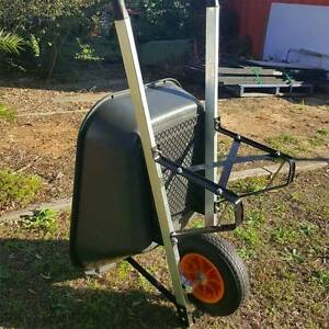 100L Heavy Duty Tray Wheelbarrow Galvanize Garden Farm Cart-WB100 Revesby Bankstown Area Preview