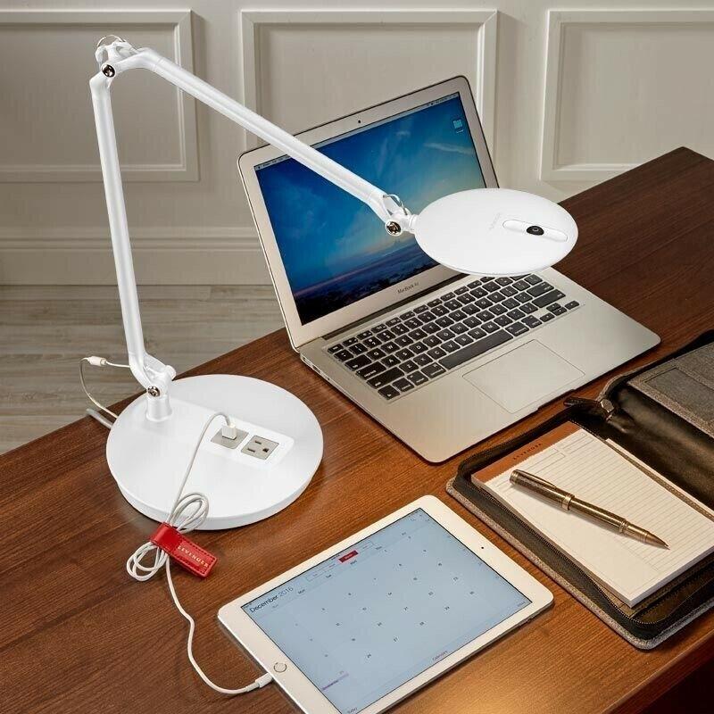 Humanscale Element Disk Task LED Light: Desktop Technology Base - White