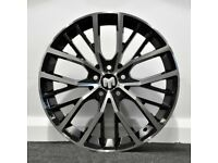 "17"" Polo GTI Style alloy wheels and tyres (blk/pol) (5x100) Suits Vw Polo, Audi A1, Seat Ibiza etc"