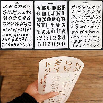 Beschriftungsschablone Alphabet Schablonen Frisch Malerei Papier Handwerk Anzahl