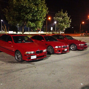 E39 2003 BMW M5 Imola Red on Imola Red