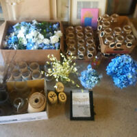 Lot of Wedding Center pieces, decor card box etc.