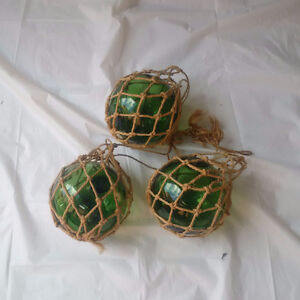 ANTIQUE GLASS FISHING FLOATERS