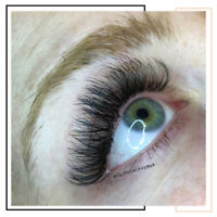 Eyelash Extensions starting at $90 with a FREE FILL
