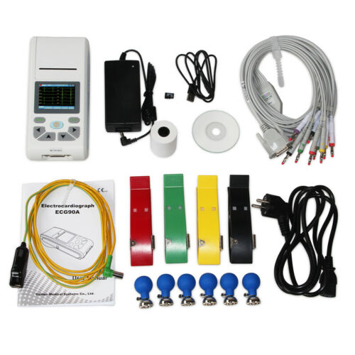 US Seller touch Screen 1 channel ECG Machine12 lead EKGMonitorElectrocardiograph