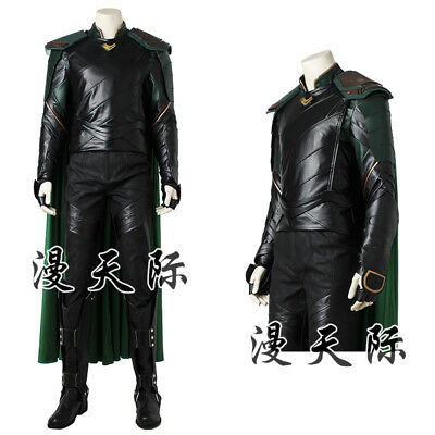 Thor III Ragnarök Loki Movie Cosplay Kostüm Costume Full Set Outfit Halloween