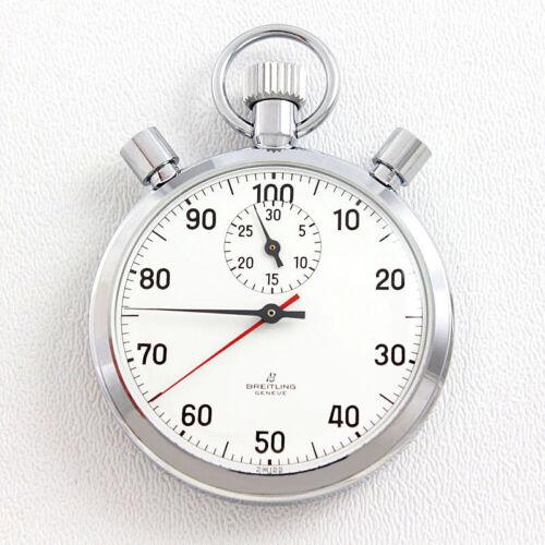 NOS Breitling Ref. 3537 Chronograph Split Seconds Pocket Timer Stopwatch