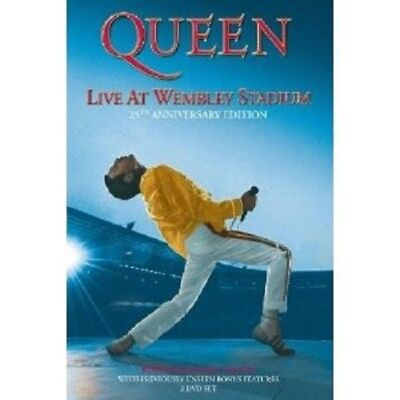 "QUEEN ""LIVE AT WEMBLEY"" 2 DVD 25TH ANN. NEW+"