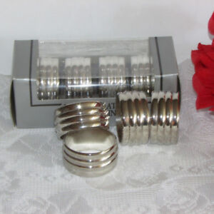 Set 8 Silverplate Napkin Rings Elegant Tableware Silver Plate
