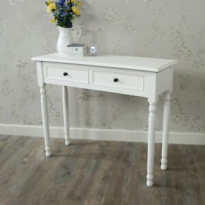 white wooden dressing table console table shabby vintage chic bedroom hallway ebay. Black Bedroom Furniture Sets. Home Design Ideas