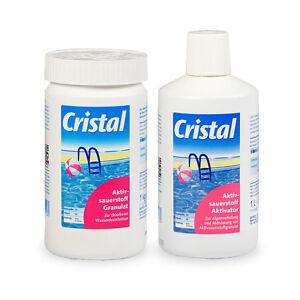 Spar-SET Cristal O2 Aktivsauerstoff Granulat + Aktivsauerstoff Aktivator - Pool