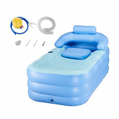 Blow Up Adult PVC Portable Spa Warm Bathtub Inflatable Bath Tub Air Pump Kit](Inflatable Bath Adult)
