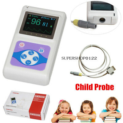 Children Kid Pulse Oximeter Hand-held Finger Spo2 Probe Pulse Rate Usb Software