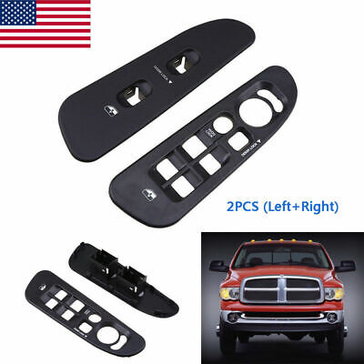 Fit 02-05 Dodge Ram 1500 2500 3500 Door Window Switch Trim Bezel Master Cover