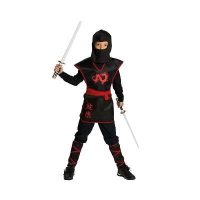 Rub - Ninja Krieger Kinder Kostüm zu Karneval Fasching