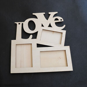 New Hollow Love Wooden Family Photo Picture Frame Rahmen Art Home Decor