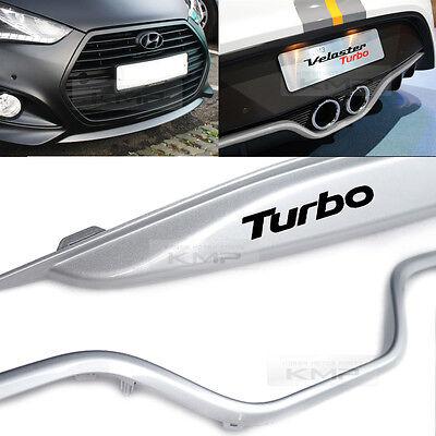 OEM Genuine Front + Rear Bumper Lip Silver for HYUNDAI 2013-2017 Veloster Turbo