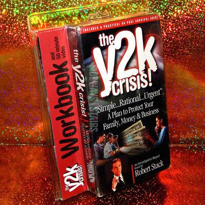 THE Y2K CRISIS! VHS VIDEO & WORKBOOK survival guide Robert Stack sealed RARE vtg