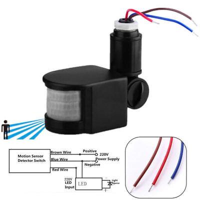 [DIAGRAM_5LK]  180° LED Outdoor Infrared PIR Motion Sensor Detector Wall Light Lamp Switch  USA for sale online   Outdoor Motion Detector Light Wiring Diagram      eBay