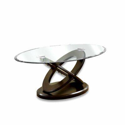 darbunic glass top coffee table in dark