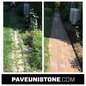 DRIVEWAY CLEANING-HIGH PRESSURE CLEANING & MAINTENANCE OF PAVERS West Island Greater Montréal image 9