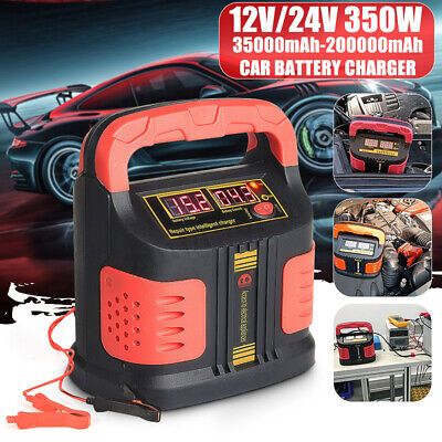 350W Car Battery Charger Pulse Repair Full Automatic Intelligent 220V 12/24V   ❤ 220v Battery Charger
