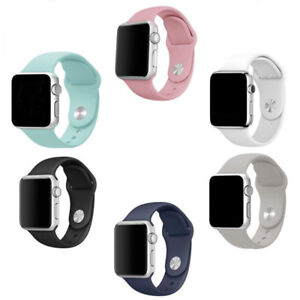 Apple watch band 38mm replacement silicone strap