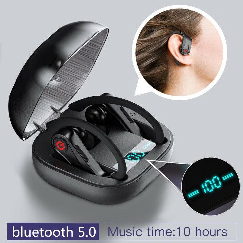 US PowerHBQ PRO Bluetooth 5.0 Earbuds TWS Wireless HD Stereo