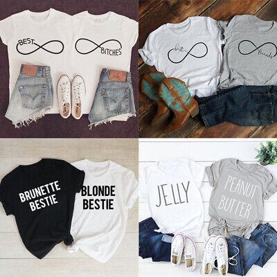 Beste Freunde T-shirt beste Hündinnen Lustige T-Shirt Paar Freund Slogan (Top Paar Kostüm)