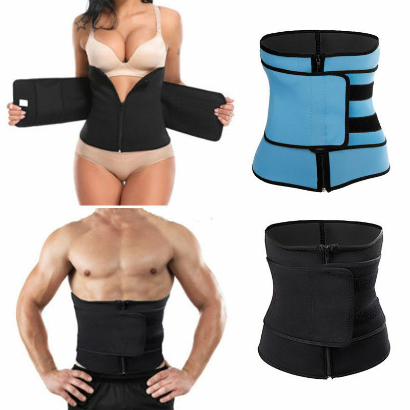 Neoprene Men Women Girdle Body Sauna Sweat Shaper Waist Trainer BLACK Sport Belt