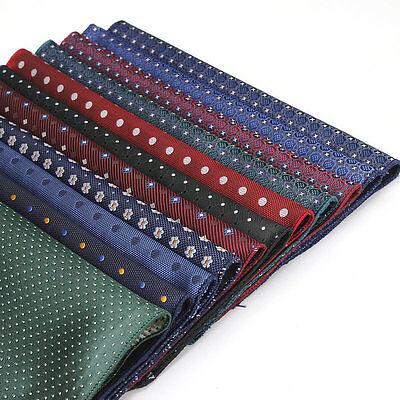 Lot 20 Pcs Men's Pocket Square Polka Dot Polyester Silk Handkerchief Chest Towel