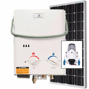L5 Instant Hot Water Shower Kit - Propane / Solar 100 Watt