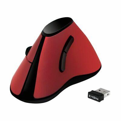 Vertikale Optische Funk Maus Kabellos ergonomisches Design 2.4 GHz 1200 dpi rot