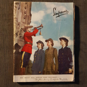 Simpsons Sears 1943 Catalogue - excellent condition